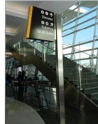 Photo of San Diego International Airport wayfinding signage