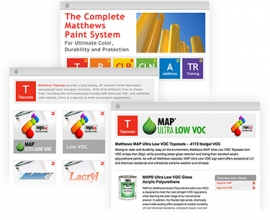 Image of webpages from new products section of matthewspaint.com