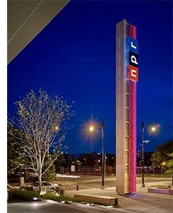 Photo of NPR identity signage