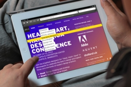 Photo of homepage of AIGA conference website