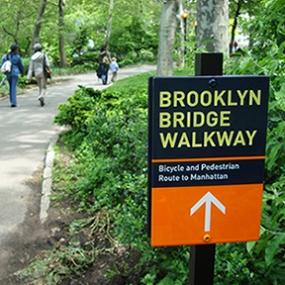 Brooklyn Bridge Pedestrian Improvements, Dumbo Improvement District, emphasis design