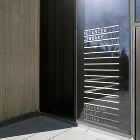 Brown University Friedman Study Center Signage, Open