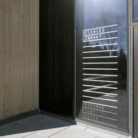 Brown University Friedman Study Center Signage, Open