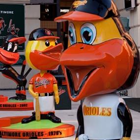 Orioles statues, Camden Yards, Baltimore Orioles, Ashton Design