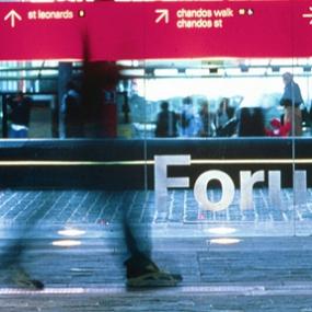 Forum Signage, Emery Vincent Design