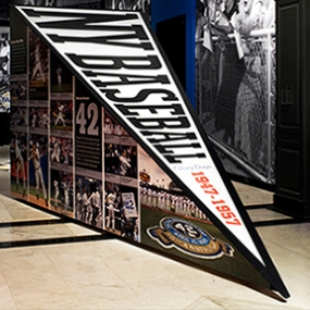 Glory Days: New York Baseball 1947-1957, Museum of the City of New York, Pentagram