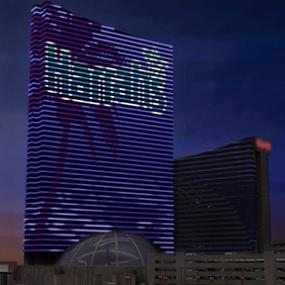 Harrah's Resort Media Façade, Harrah's Resort Atlantic City, Tim Hunter Design