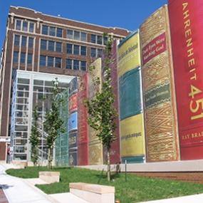 Kansas City Downtown Library Book Bindings, Kansas City Public Library, JE Dunn Construction, Dimensional Innovations