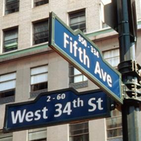 Self-Illuminated Street Sign, 34th Street Partnership