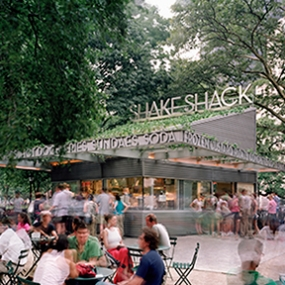 Shake Shack, Madison Square Park Conservancy, Pentagram