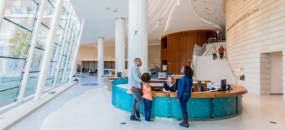 KKA Focuses on Family at Lucile Packard Children's Hospital (image: hospital lobby, photo by: Emily Hagopian)