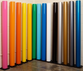 photograph of new gloss colors for 3M Scotchprint Wrap Film