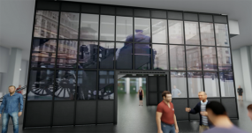Largest US Installation of World's First Digital Media and Interactive Architectural-Grade LED Glass Integrated by ANC into New York's Historic Tin Building at Seaport District in Lower Manhattan