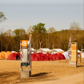 View of Base Camp Charlie's signage system