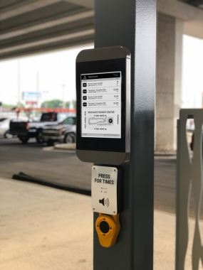 Connectpoint comes to Austin (image: bus stop digital signage)