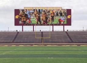 Daktronics Bringing New Audiovisual Experience to Central Michigan University Football (image: digital scoreboard)