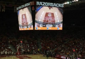 Daktronics Display for Univ of Arkansas Razorbacks
