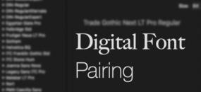 Digital Font Pairing by Allan Haley