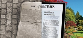 Easy to read newspaper image