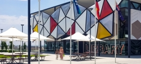 A Read for Speed—Oran Park Library (image: front of library building)