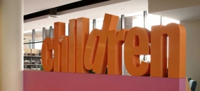 Tribute to Michael Bryce, photograph of Children's section signage at Five Dock Library