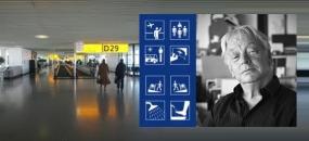Graphic for Paul Mijksenaars Wayfinding at Schipol Airport