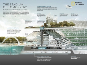 Populous and National Geographic collaborate on 'The Stadium of Tomorrow' © Photographer / National Geographic