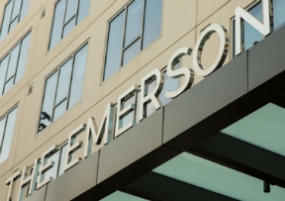 The Emerson signage by Hunt Design