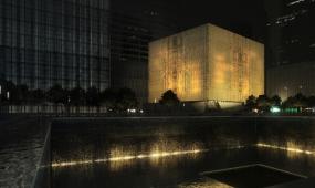 Two Twelve Develops Wayfinding for Perelman Performing Arts Center, WTC (image: rendering exterior c LUXIGON)