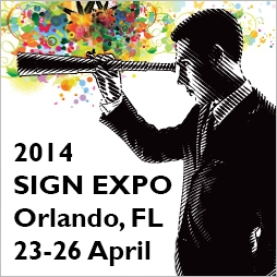 Graphic for the 2014 ISA Sign Expo in Orlando, Florida