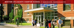 Photo of Boston Collegiate Charter School entry signage