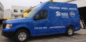 Photo of Habitat for Humanity vehicle wrap by Avery Dennison