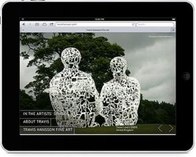 Screenshot of Travis Hansson's website