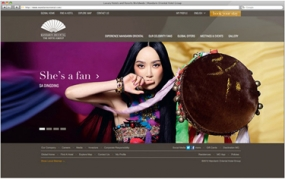 Screenshot of Mandarin Oriental Hotel Group website
