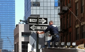 Photo of New York City street signs