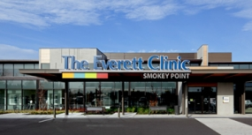 Photo of the Everett Clinic identification sign