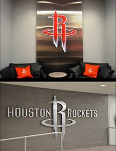 Photo of signage for Houston Rockets facility