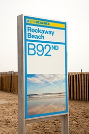 Photo of signage on New York City beaches