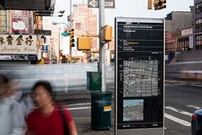 Photo of WalkNYC pedestrian wayfinding
