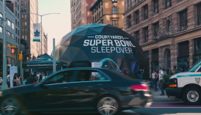 Bluemedia Builds Super Bowl Sleepover 4-D Virtual Reality Dome