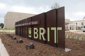 Photo of Botanical Research Institute of Texas identity sign
