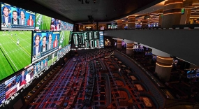 World's Largest Sportsbook with Daktronics LED Video
