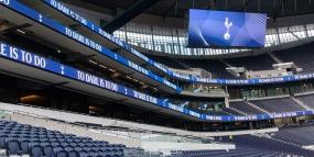 Daktronics' Complete Experience at Tottenham Hotspur Stadium (image: stadium interior with digital signage)