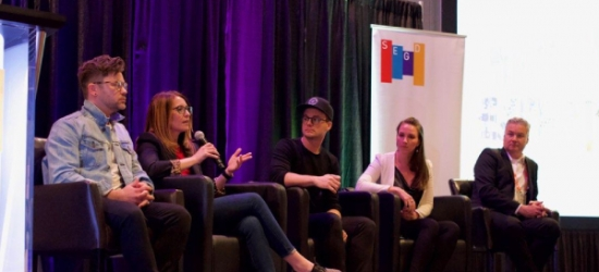 2019 Branded Environments a Wrap (image: speaker panel at event)