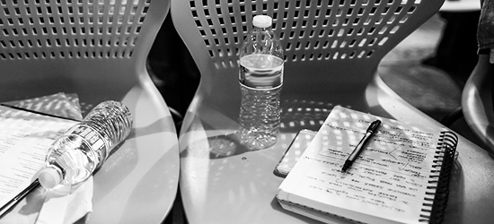 Photo of Chairs and Notebooks