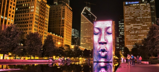 Crown Fountain at Millennium Park, Chicago