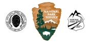 3 images of National Parks Service Graphics elements