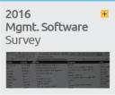 2016 Management Software Survey