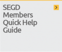 Access the members quick help guide to SEGD's features and benefits