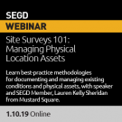 2019 Webinar 01 EGD Site Surveys